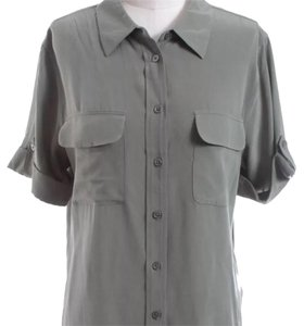 Equipment Button Down Shirt Green