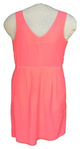 Madewell short dress Neon Coral Silk on Tradesy