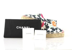 Chanel Canvas Multicolor Cc Logo 2014 Espadrille Flats
