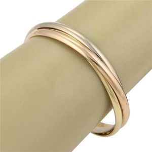 Cartier Cartier Trinity 18k Tri-color Gold 5mm Wide Rolling Bangles Wcert.