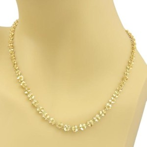 Fancy Oragami Graduated Links Necklace In 14k Yellow Gold