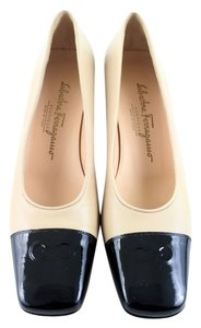 Salvatore Ferragamo Beige and Black Formal
