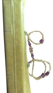 One of a Kind Green & Purple Clutch