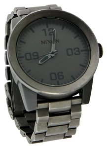 Nixon Nixon Men's 'The Corporal' Gunmetal-Tone Stainless Steel Bracelet Watch 48mm