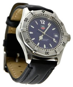 TAG Heuer * Men's Classic Professional Blue Dial Leather Strap Watch 38mm