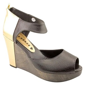 Cri de Coeur Wedge Black Gold Wedges