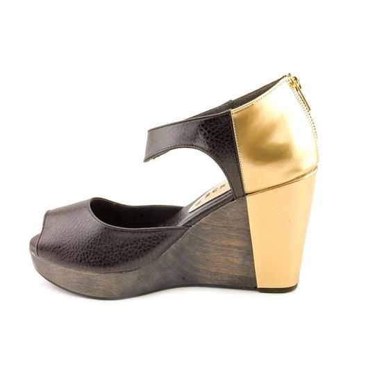Cri de Coeur Black Gold Wedges
