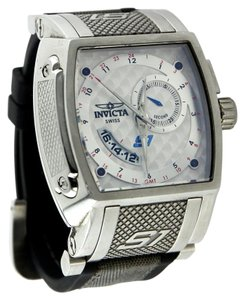 Invicta Invicta Men's S1 Collection GMT Stainless Steel Black Rubber and Gray Fabric Watch 48mm