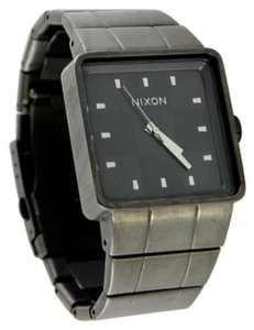 Nixon Nixon Men's Gunmetal Quatro Black Dial Watch 35mm