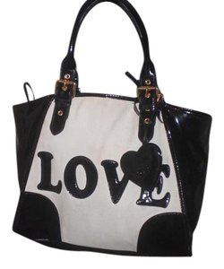 Love Moschino Tote in white/black
