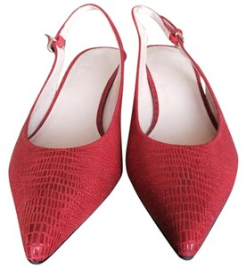 Stuart Weitzman Slingbck Red Sandals