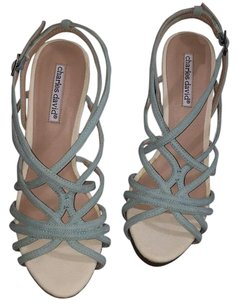 Charles David Light blue Platforms