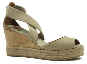 Tory Burch Wedges Sandals Multi-Color Platforms
