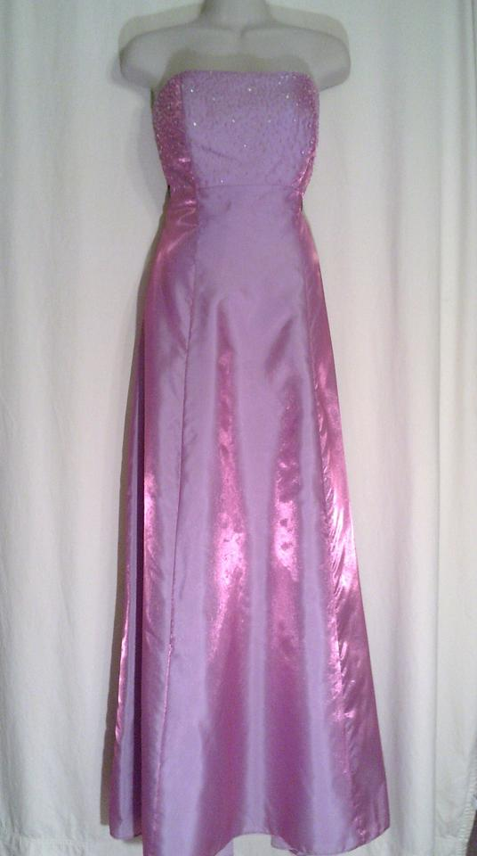 Forever Yours Mulberry Sparkly Formal Bridesmaidmob Dress Size 10