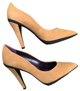 Miss Sixty Suede Leather Comfortable mustard Pumps