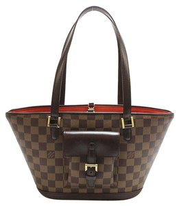 Louis Vuitton Manosque Damier Tote in Brown