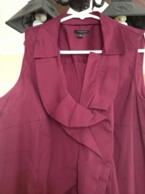 Ann Taylor Button Down Shirt Maroon
