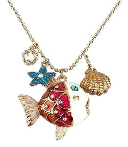 Betsey Johnson Betsey Johnson Sea Excursion Fish Charm Pendant Necklace NWT $38