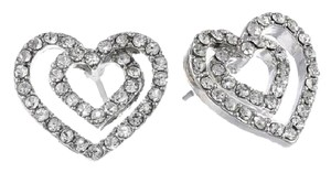 Betsey Johnson Betsey Johnson Iconic Crystal Rhodium Open Heart Stud Earring B08578-E01 NWT $25