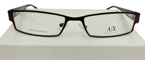 A|X Armani Exchange Armani Exchange AX216 Col 0NYR Brown Metal Eyeglasses Frame 51mm 17mm 130mm