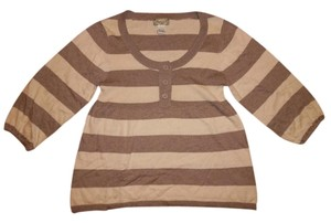 American Rag 3/4 Sleeved Stripes Sweater