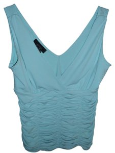 Bodycon Gathered Ruffle Top aqua