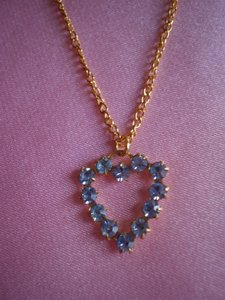 Other Like new aquamarine heart necklace