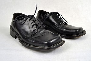 Logan Black Leather Lace Dress Shoes Italy Mens