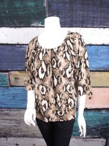Notations Snakeskin Top Brown