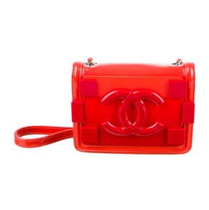 Chanel Limited Edition Plexiglass Patent Leather Boy Brick Cross Body Bag