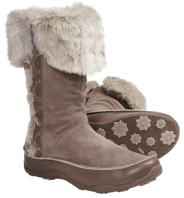 Item - Beige Polartec Suede Leather Waterproof Fur Lined Natural Midcalf Boots/Booties Size US 8.5 Regular (M, B)
