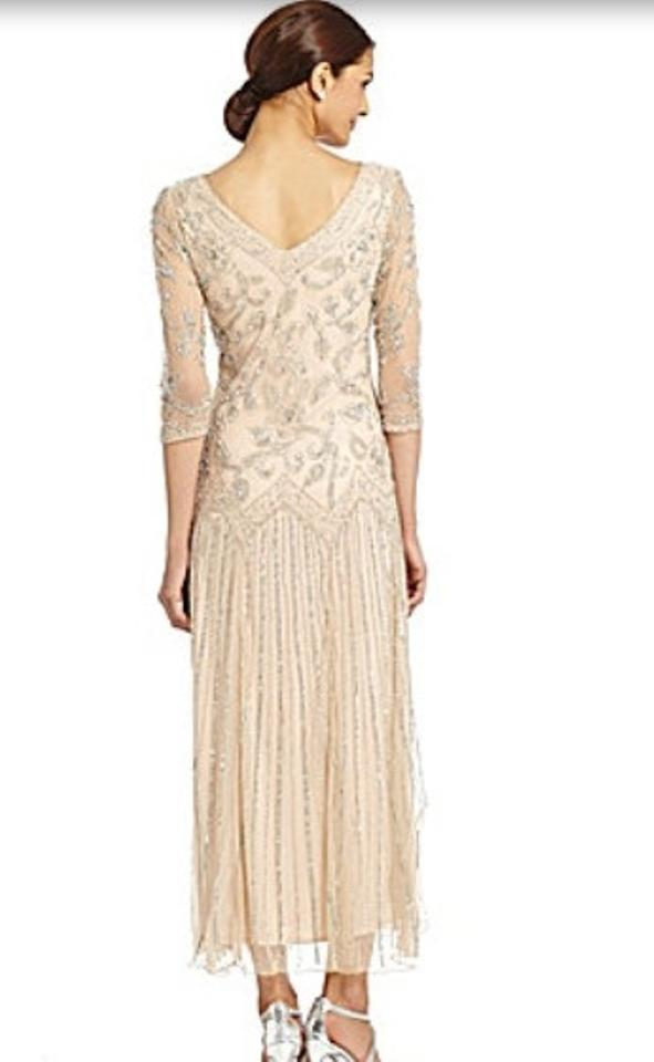 784bd2ddc47 Pisarro Nights Beige Dropped Waist Long Formal Dress Size 16 (XL ...