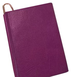 Peter Millar PASSPORT HOLDER Leather Passport Cover Holder Raspberry NEW IN BOX