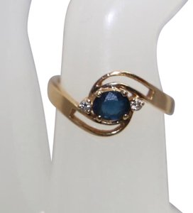 Other STAMPED 750 (18K) PURE SOLID GOLD SAPPHIRE RING