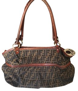 Fendi Designer Canvas Monogram Hobo Bag