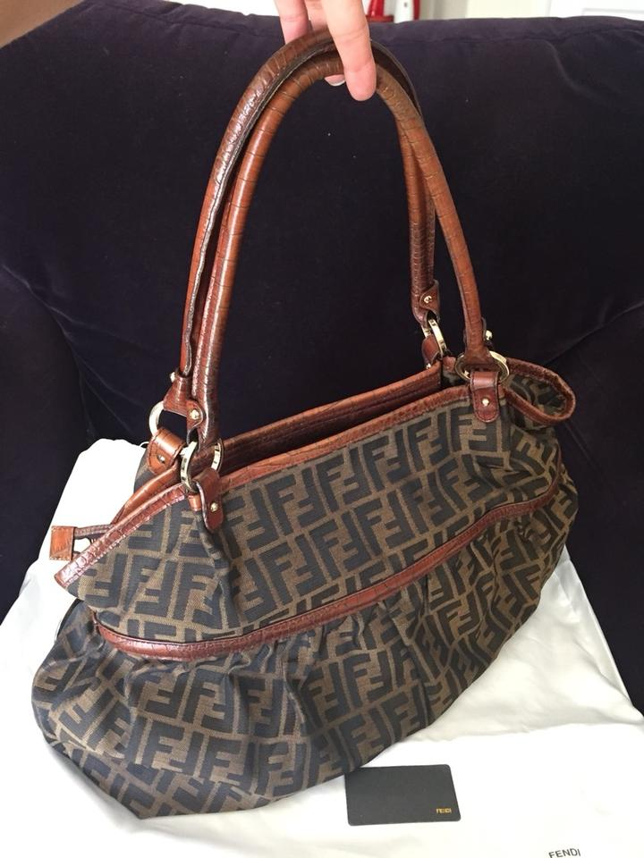 Fendi Chef Large Zucca Brown Canvas Hobo Bag 76% off retail 23c9c205c1a0e