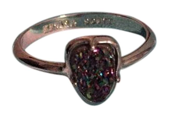 Item - Silver with Multi Drusy Stone Haylee Ring