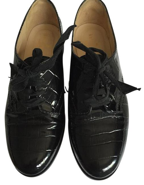 Item - Black Patent Leather Flats Size US 5 Regular (M, B)