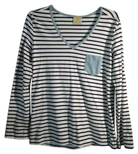 SS Pocket Top blue and white stripe