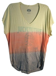 Juicy Couture Soft T Shirt yellow, orange & gray ombre