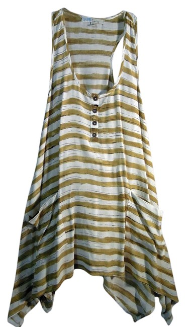 Item - White and Green Stripe #10727 Tunic Size 6 (S)