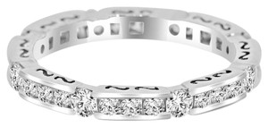 Avi and Co 1.00 cttw Round Brilliant Diamond Art Deco Style Eternity Band 18K White Gold