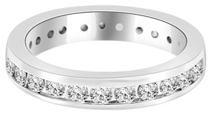 Avi and Co 1.50 cttw Round Brilliant Cut Diamond Channel Set Eternity Band 18K White Gold
