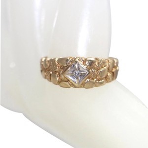 10K YELLOW GOLD NUGGET RING, SIZE 8.5