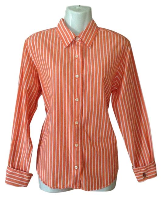 Tommy Hilfiger Womens Sleeve Striped Shirt Button-down Top Size 4 (S) Tommy Hilfiger Womens Sleeve Striped Shirt Button-down Top Size 4 (S) Image 1