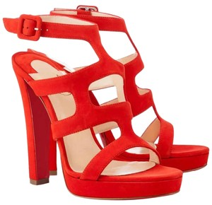 Christian Louboutin Red, Orange, Corazon Sandals