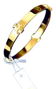 Tory Burch Tory Burch Logo Bangle in Gold