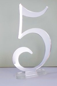 Silver Mirrored Table Numbers - Romantic Style Tableware