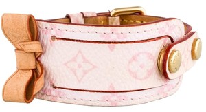 Louis Vuitton Two-tone pink monogram leather Louis Vuitton ID bracelet