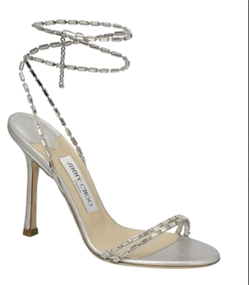 94157037e6 Jimmy Choo Silver Vintage Collection Formal Shoes Size US 8.5 ...